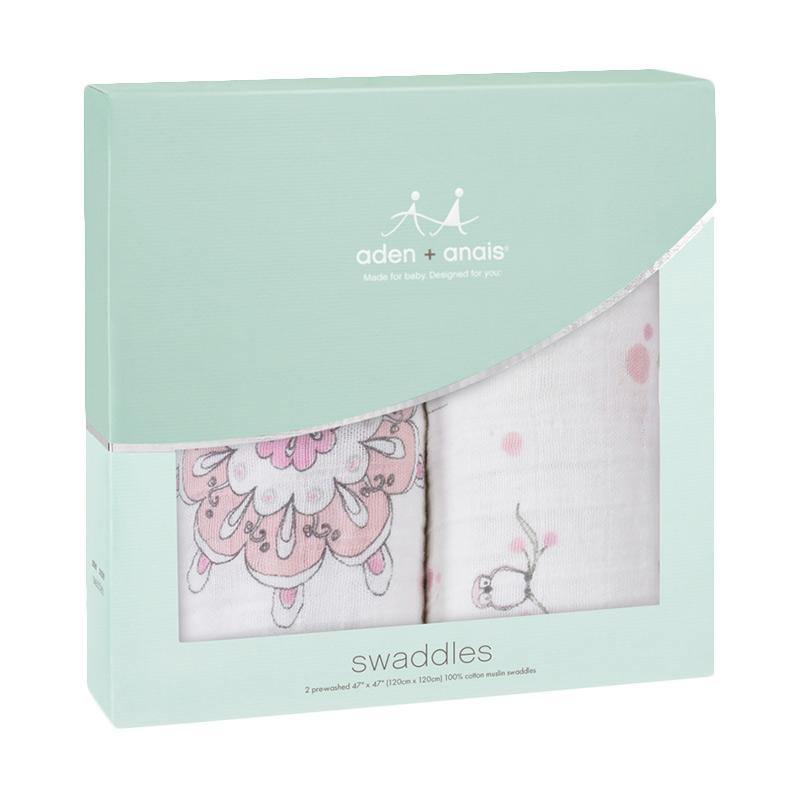 Aden Anais Classic Swaddles For the Birds Kain Bedong Bayi dan Anak [2-Pack]