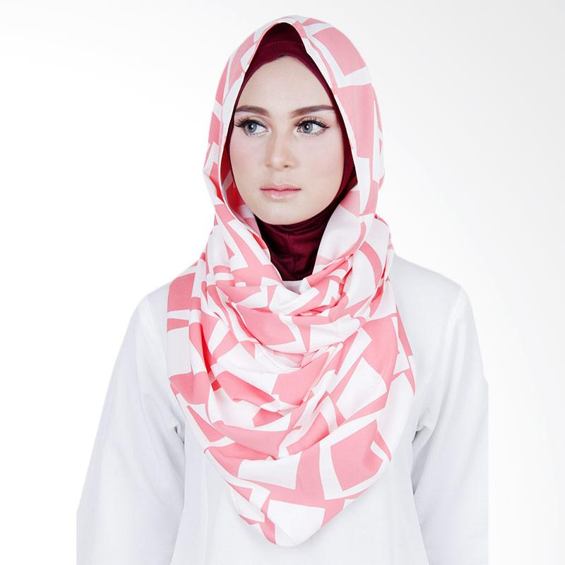 Cantik Kerudung Sheefa Loop Printed Jilbab Instant - Peach