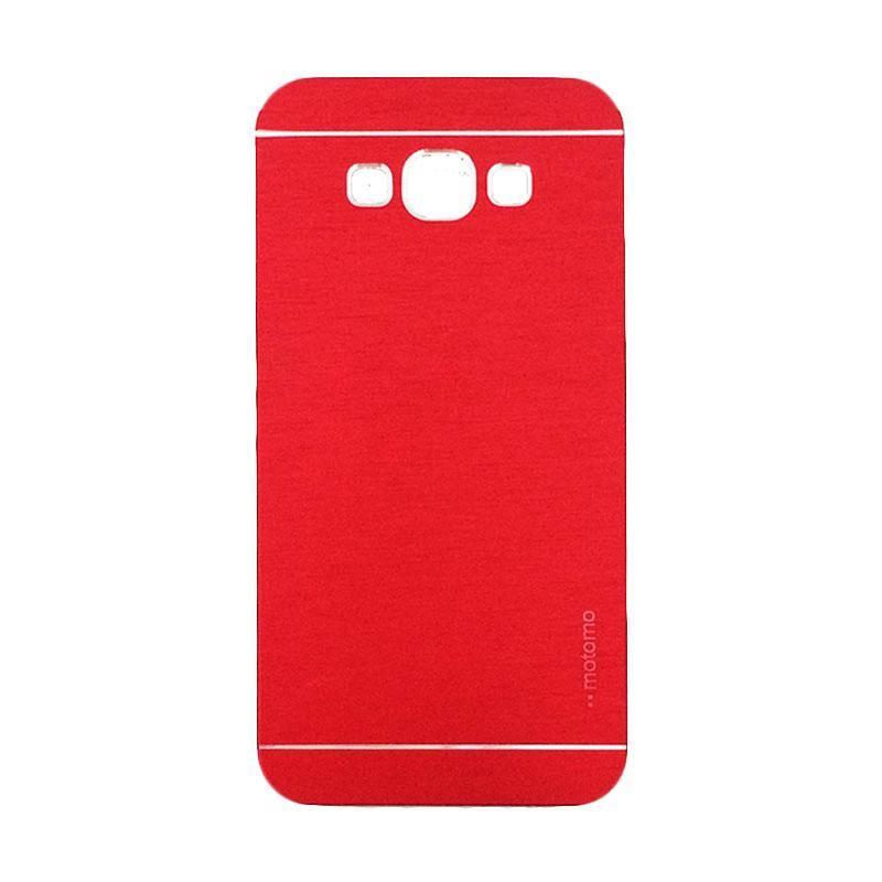 Motomo Metal Hardcase Backcase Casing for Samsung Galaxy E7 or E700 - Red