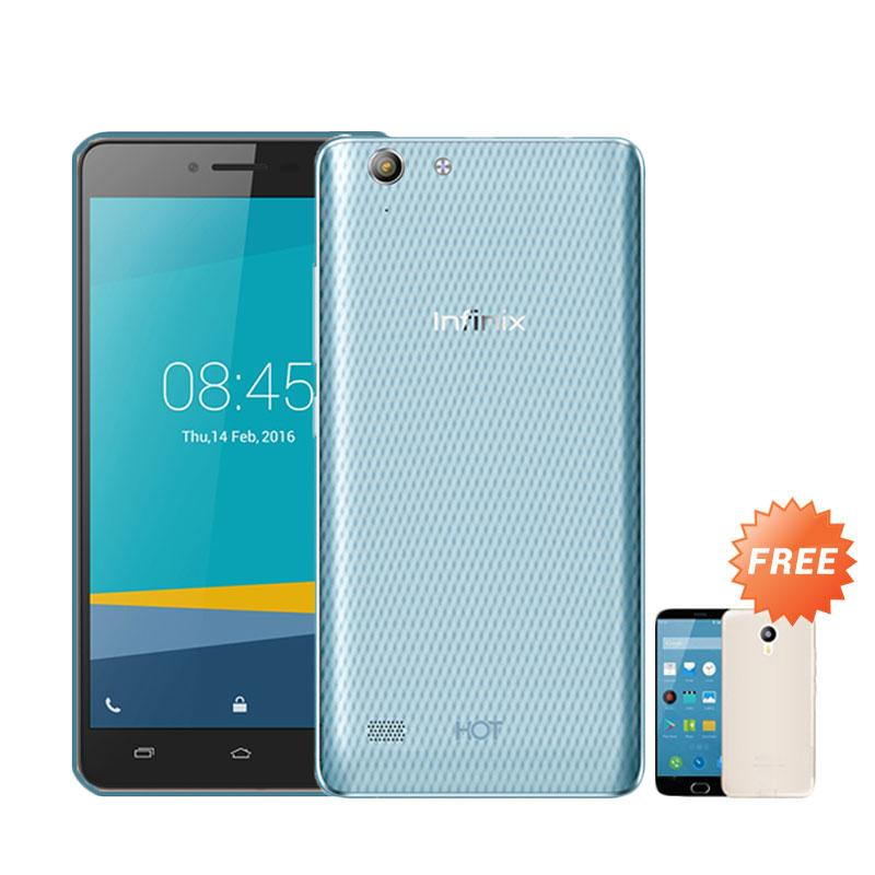 Ultrathin Casing for Infinix Hot 3 - Blue Clear + Free Ultra Thin