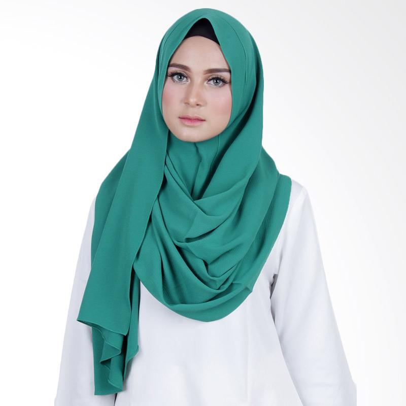 Cantik Kerudung Sheefa Long Nadine Plain Hijab - Emerald Green