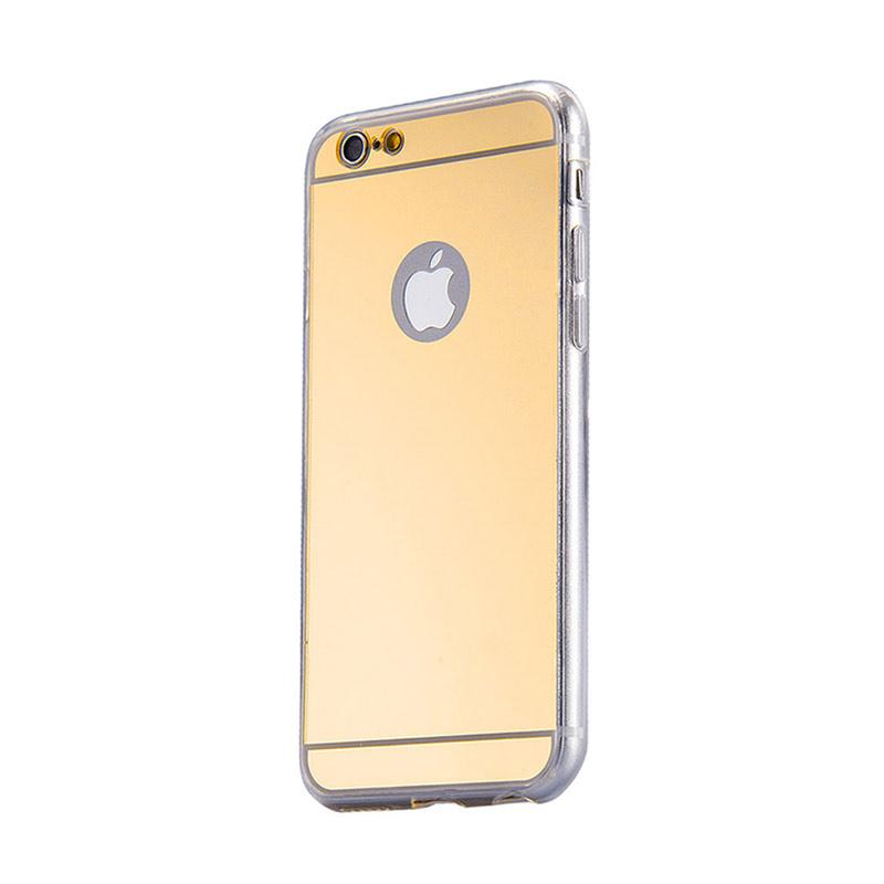 KIM Mirror Aluminium Bumper Backdoor Stylish Casing for Apple iPhone 6 or iPhone 6S - Gold