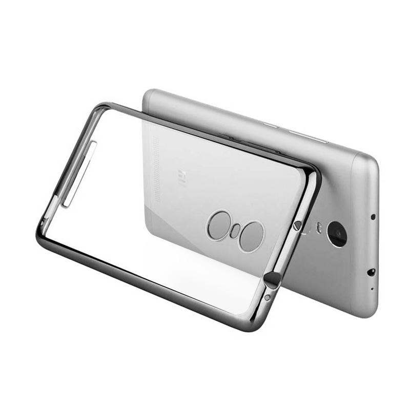 OEM Shining Chrome Softcase Casing for Xiaomi Redmi Note 3 Pro - Silver