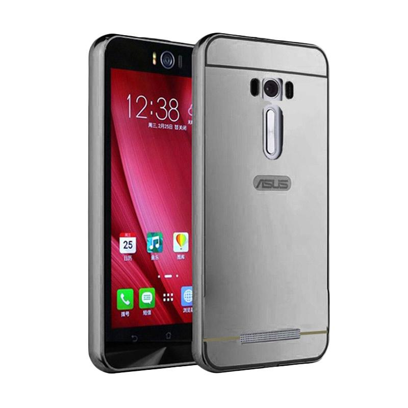 Bumper Mirror Sliding Casing for Asus Zenfone 3 5.2 Inch - Silver