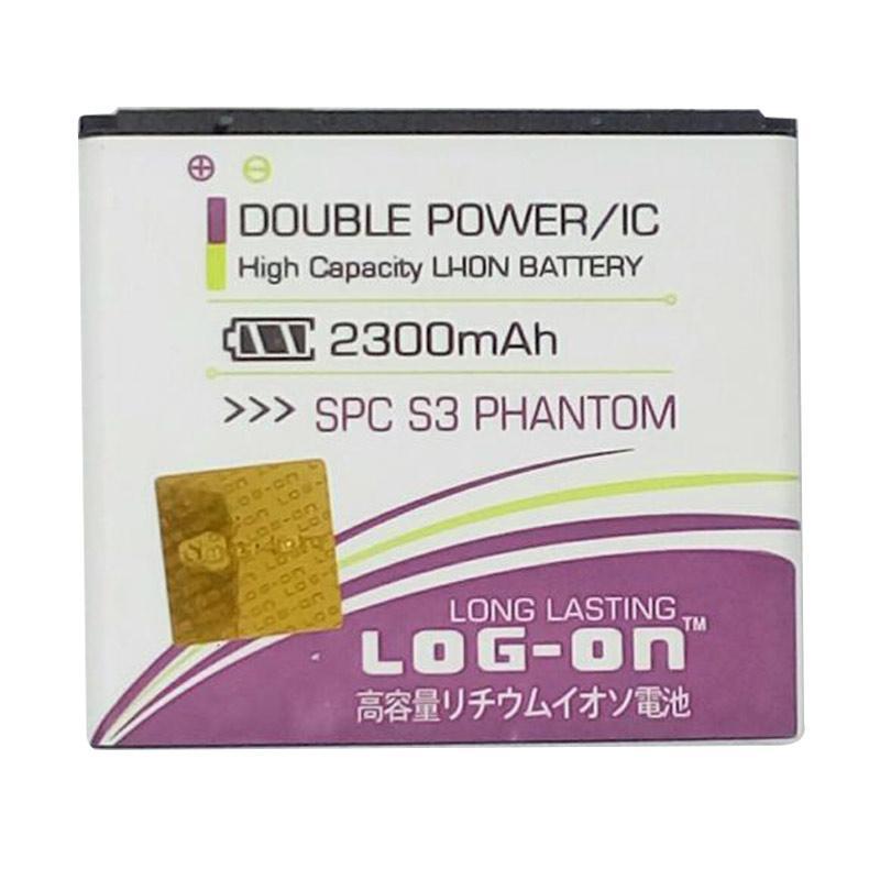harga Log On Double Power and IC Battery for SPC S3 PHANTOM [2300 mAh/Garansi 6 Bulan] Blibli.com