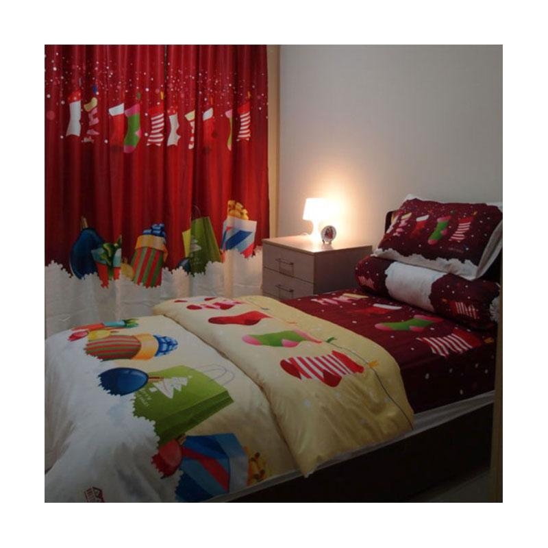 Odette Themehome Christmas Gift Quilt Set Cover [140 x 200 cm]
