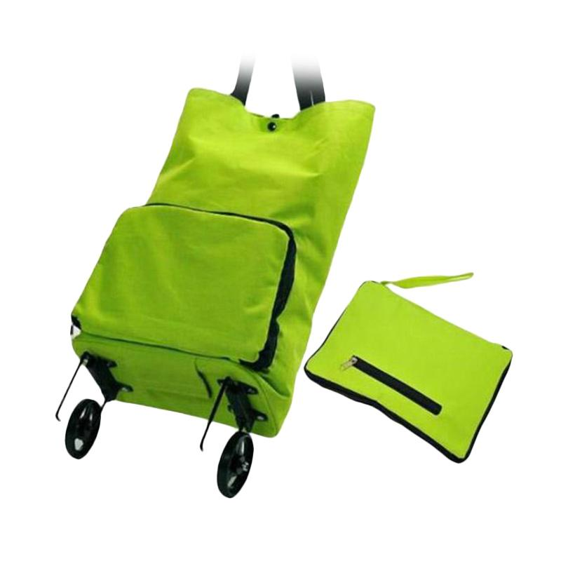 Solidex Shoping Foldable Trolley Bag - Green