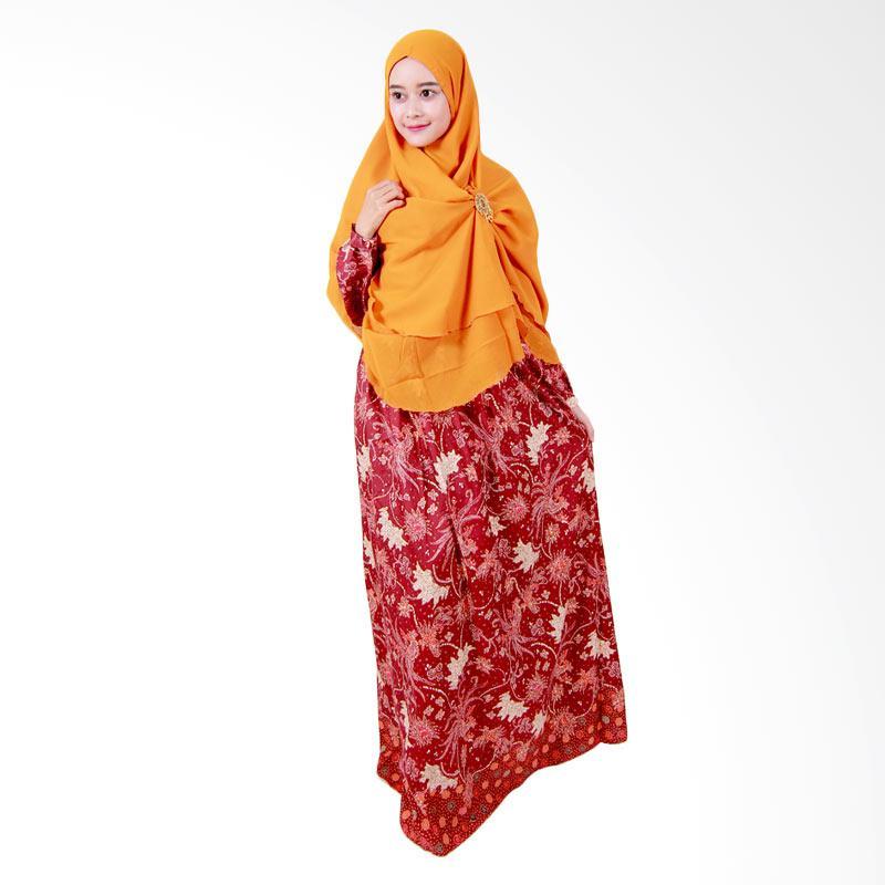 Batik Putri Ayu Solo Batik Syari GH2 Gamis - Maroon