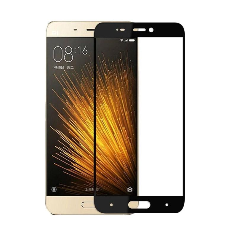HMC Tempered Glass [3D] Full Cover Screen Protector for Xiaomi Mi 4  - Black [Full Cover]
