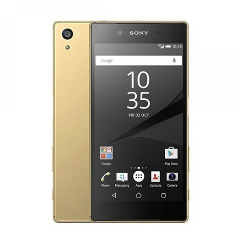 harga SONY Xperia Z5 Premium Dual Smartphone - Gold [32GB/ 3GB/ Internasional] Blibli.com