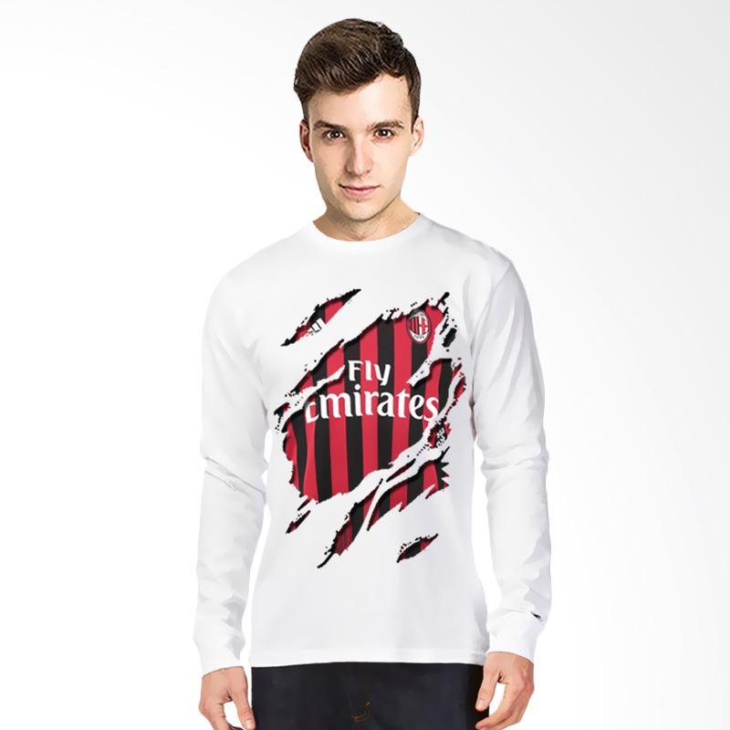 T-Shirt Glory Kaos 3D Ac Milan Jersey Lengan Panjang Atasan Pria - Putih Extra diskon 7% setiap hari Extra diskon 5% setiap hari Citibank – lebih hemat 10%