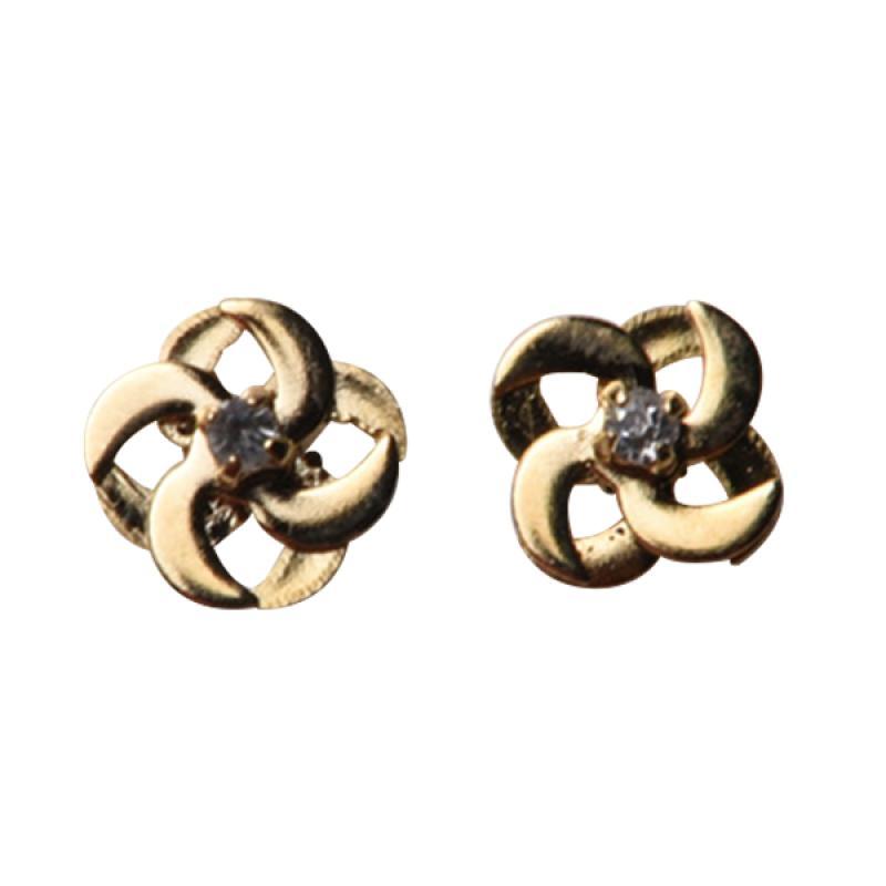 1901 Jewelry GW.533.HR23 Flower Studs 533 Anting - Gold [Lapis Emas 24k]