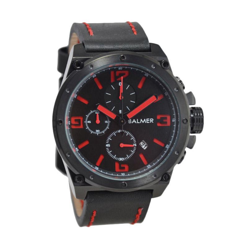 Balmer Casual D47H635BM7846MBMRH Chronograph Leather Strap Jam Tangan Pria
