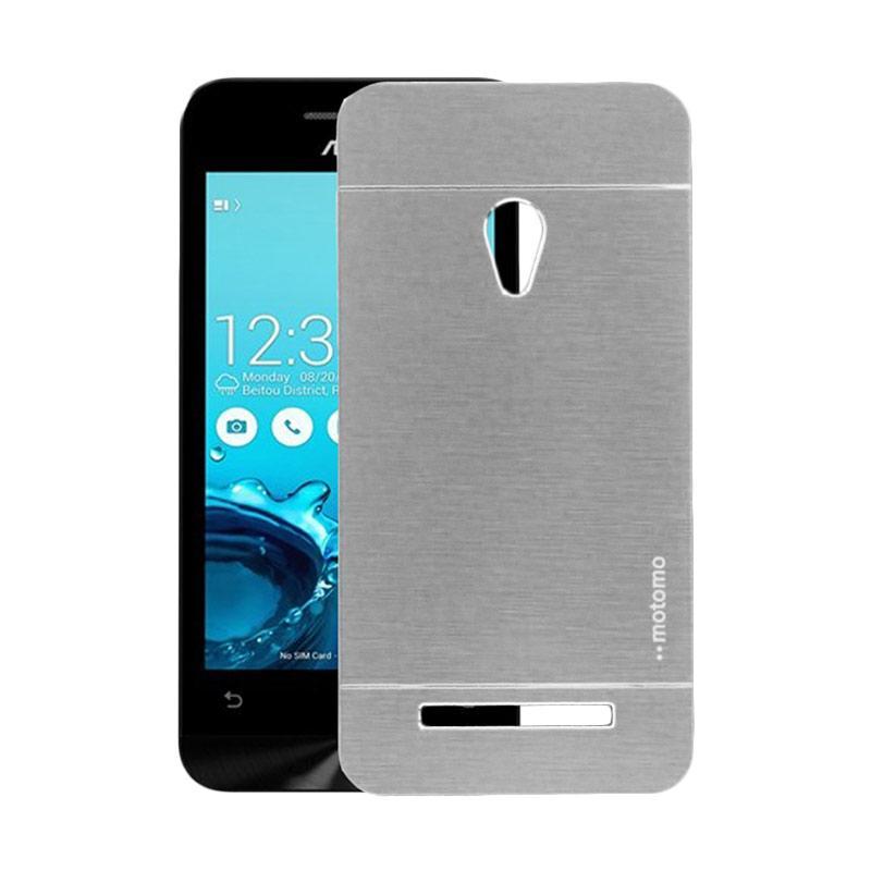 Motomo Metal Hardcase Backcase Casing for Asus Zenfone 5 A500CG - Silver