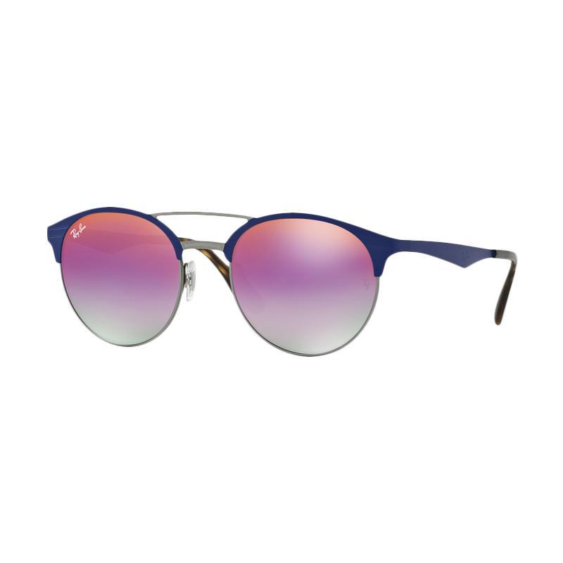Ray-Ban RB3545 Gradient Violet Sunglass - Gunmetal Matte Blue [9005A9/ Size 51]
