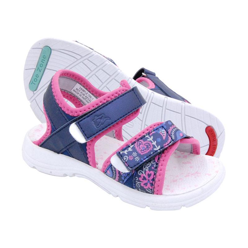 ToeZone Kids Curtis Ch Flora Sepatu Anak Perempuan - Navy