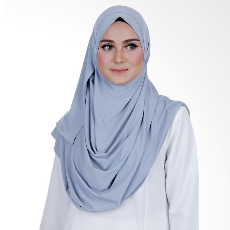 Cantik Kerudung Sheefa 2 Face Lycra Hijab Instan ��� Powder Blue