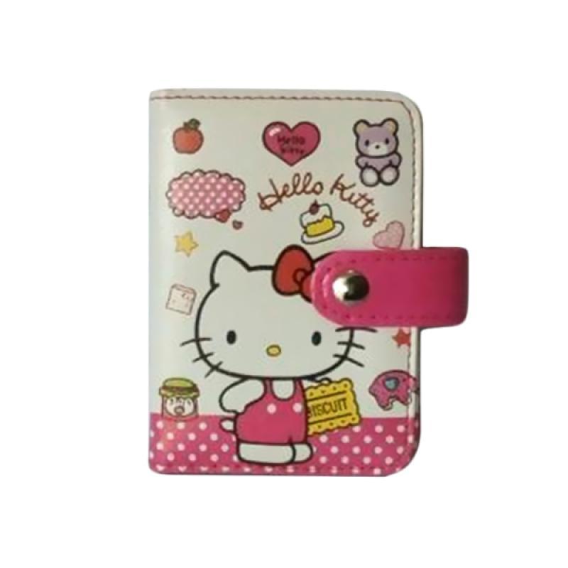 Hello Kitty HK Biscuit Standing Dompet Kartu - Putih Pink