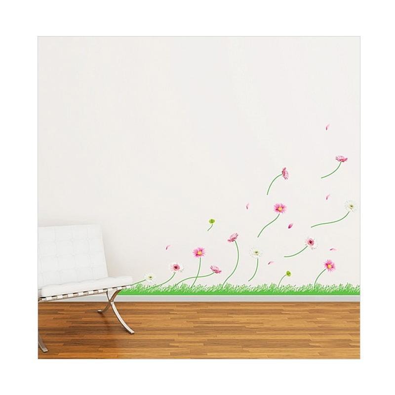 Hyundae Fixpix Windy Flowers PS 58177 Wall Sticker [50 x 70 cm]