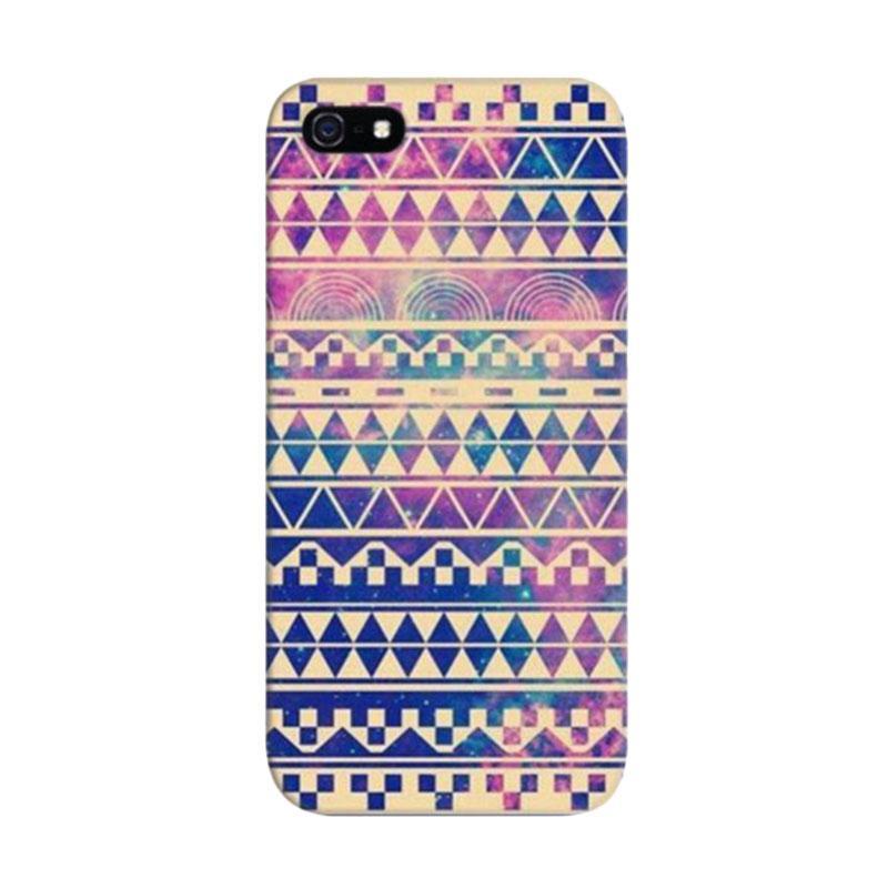 Indocustomcase Aztec Motif Indien Custom Cover Hardcase Casing for Apple iPhone 5/5S/SE
