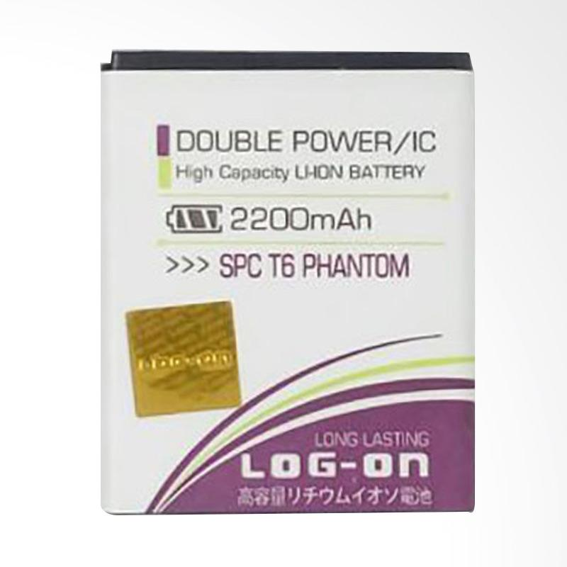 harga LOG-ON Battery For SPC T6 PHANTOM 2200mAh Double Power & IC - Garansi 6 Bulan Blibli.com