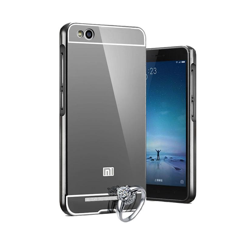 OEM Luxury Bumper Metal Sliding Backcase Casing for Xiaomi Redmi 4 - Black