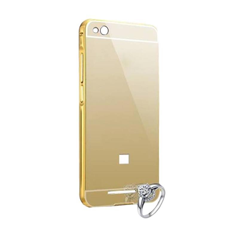 OEM Luxury Bumper Metal Sliding Backcase Casing for Xiaomi Redmi 4 - Gold