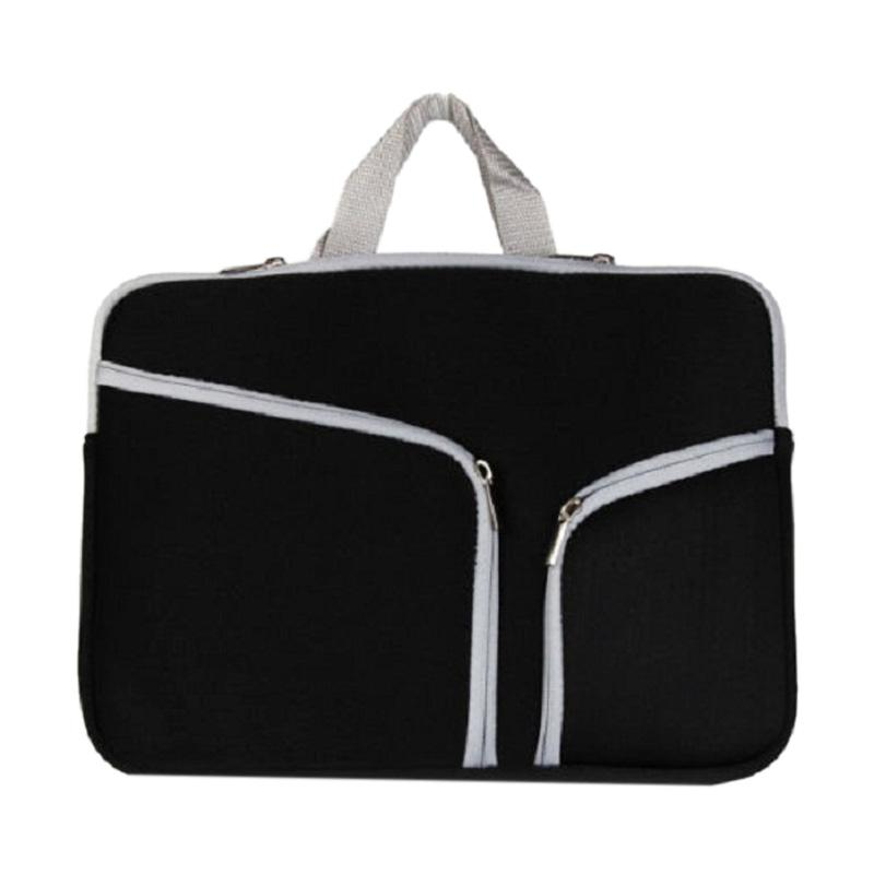 Cooltech Double Pocket Softcase Tas Laptop for Macbook 15 Inch - Black