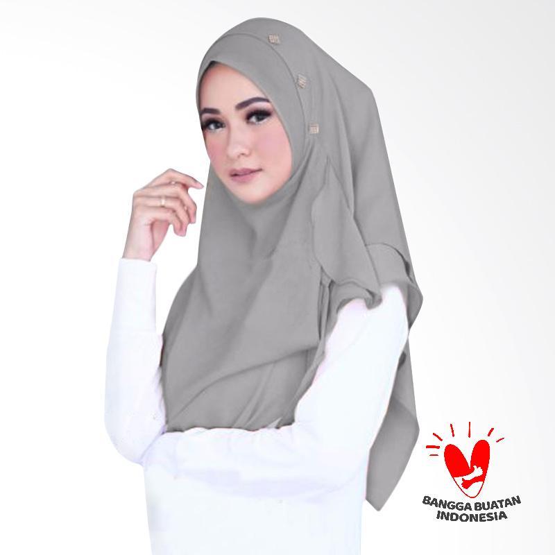 Milyarda Hijab Flowing Swarovski Kerudung Instant - Grey