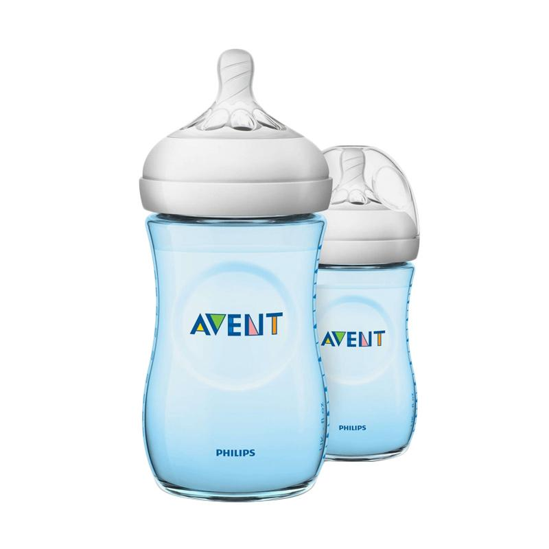 Philips Avent Natural 2.0 SCF695-23 Baby Bottle - Blue [260 mL/Twin Pack]
