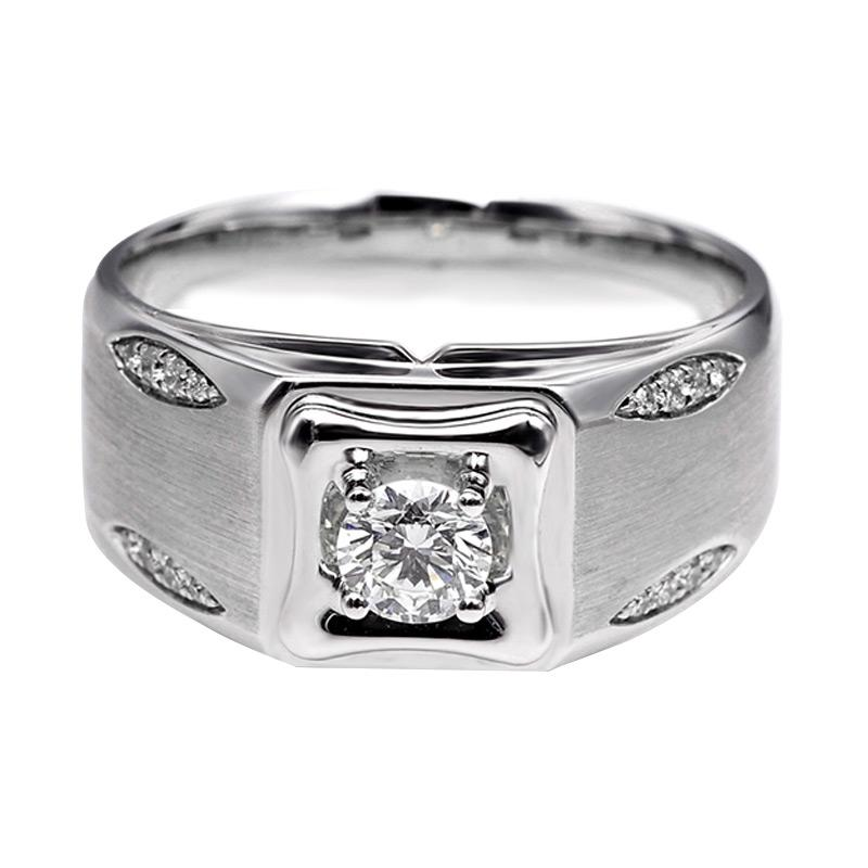 Tiaria DHTXHJZ051 Perhiasan Cincin Emas Putih dan Berlian - White Gold [18K]