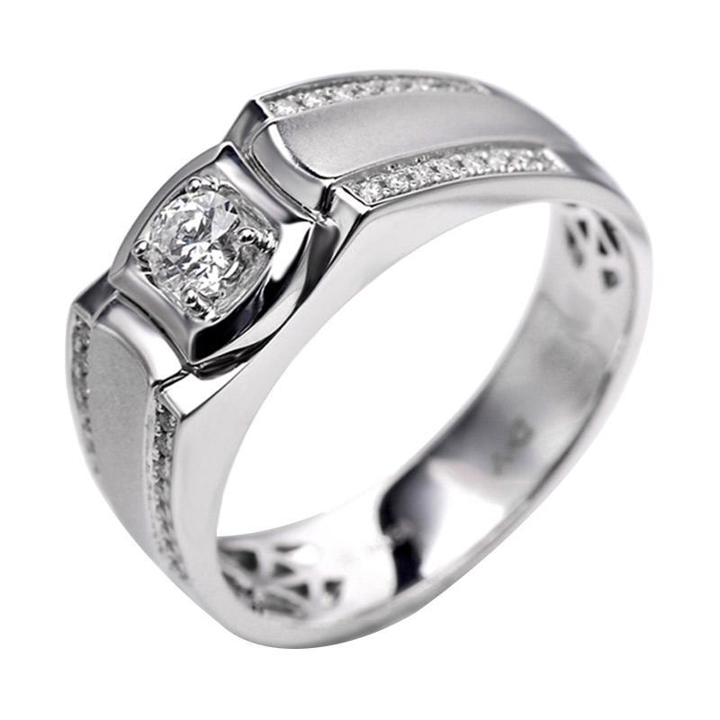 Tiaria DHTXHJZ052 Perhiasan cincin Emas Putih dan Berlian - White Gold [18K]