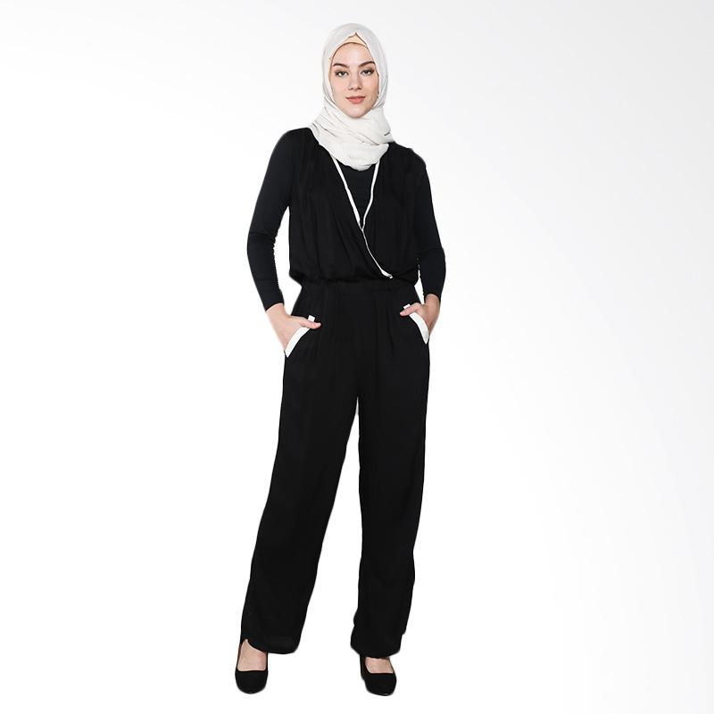 Aira Muslim Butik Viona AB.JS.001 Jumpsuits Muslim - Black
