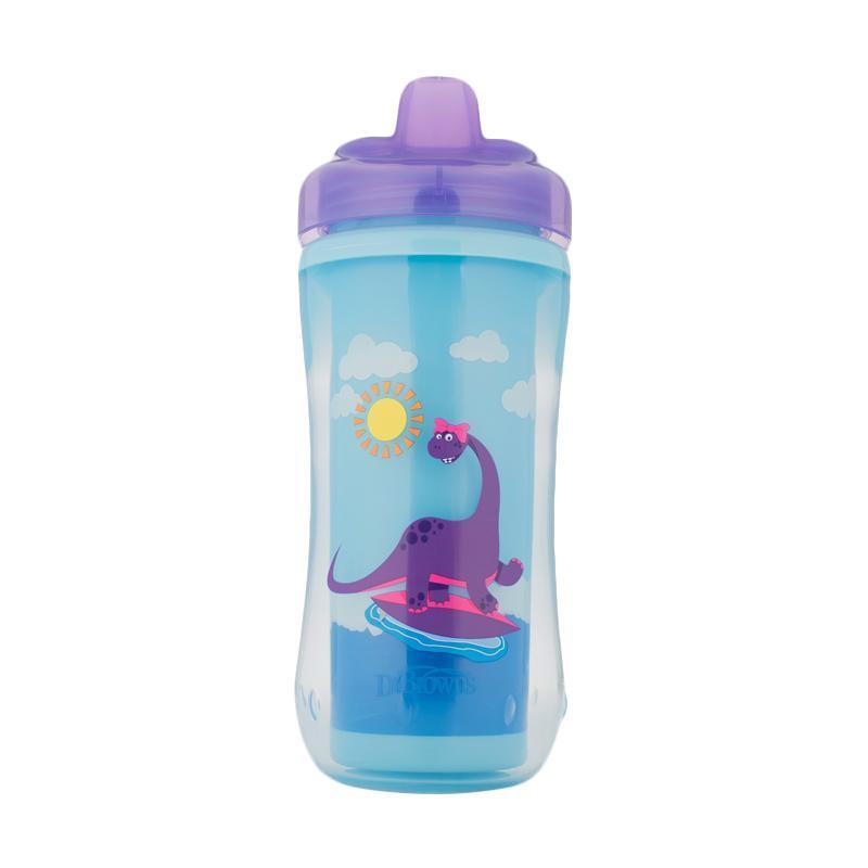 Dr. Brown's Hard Spoutcup Dino 01001 INTL Botol Minum - Purple [10 oz]