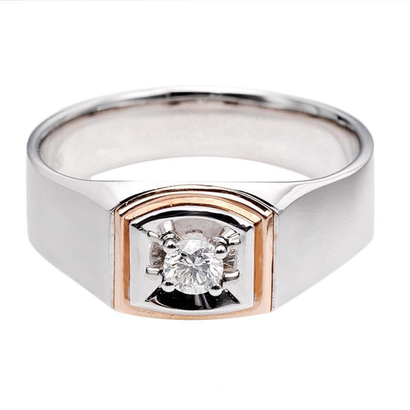 Tiaria DHTXHJZ012 Perhiasan Cincin Emas Putih dan Berlian White Gold [18K]