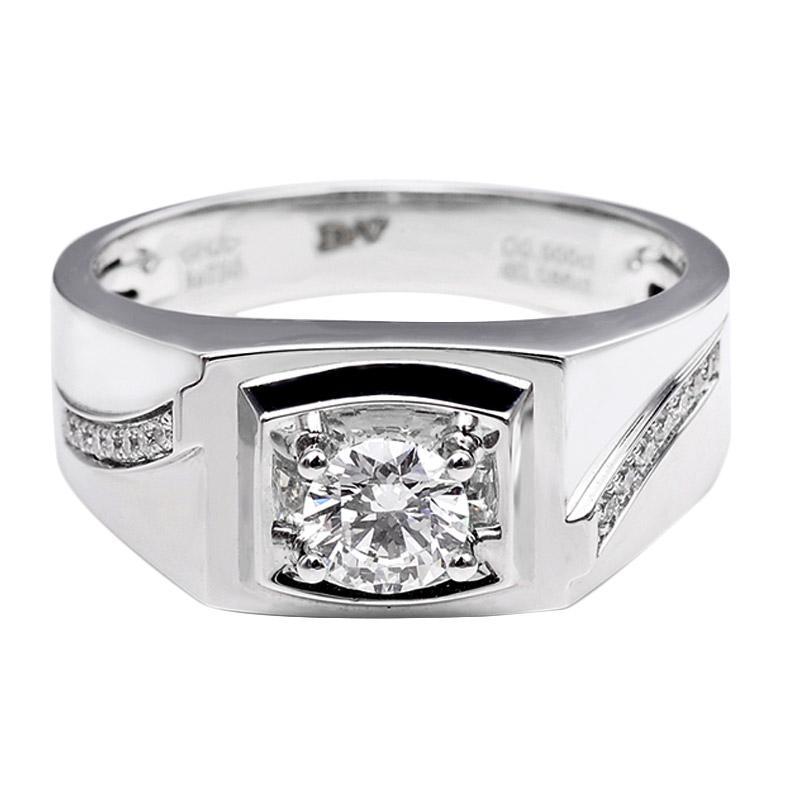Tiaria DHTXHJZ021 Perhiasan Cincin Emas Putih dan Berlian White Gold [18K]