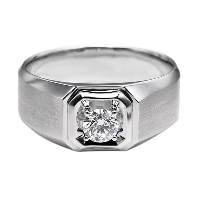 Tiaria DHTXHJZ034 Perhiasan Cincin Emas Putih dan Berlian - White Gold [18K]