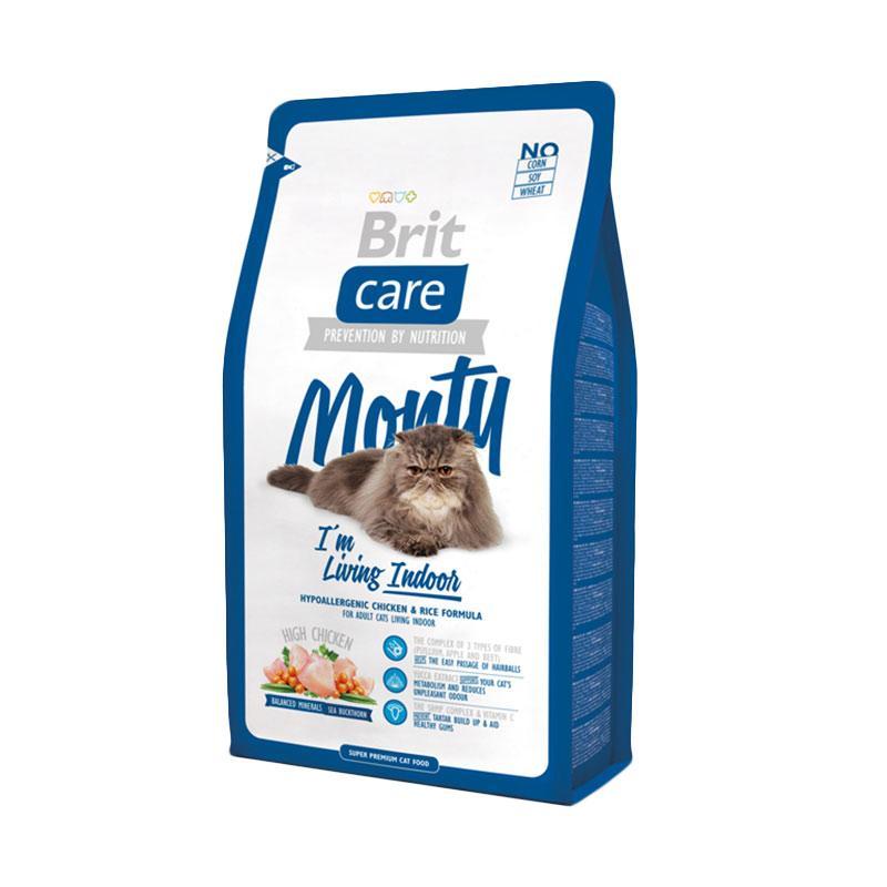 Brit Care Super Premium Monty I'm Living Indoor Dry Cat Food [2 kg]