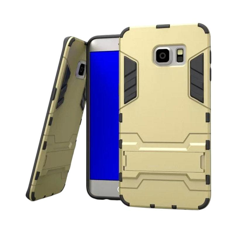 OEM Transformer Robot Iron Man Casing for Samsung Galaxy S6 Edge - Gold