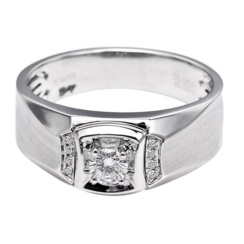 Tiaria DHTXHJZ013 Perhiasan Cincin Emas Putih dan Berlian White Gold [18K]