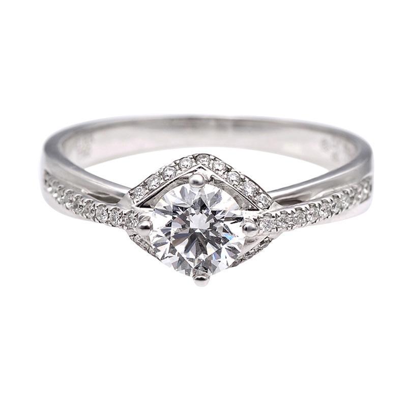 Tiaria DHTXHJZ044 Perhiasan Cincin Emas Putih dan Berlian - White Gold [18K]