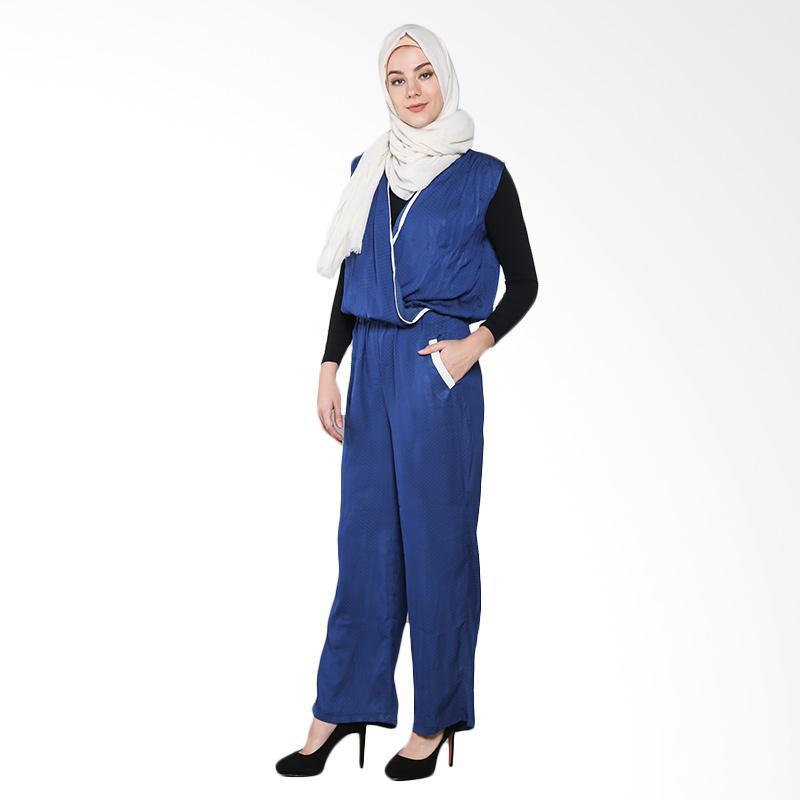 Aira Muslim Butik Viona AB.JS.001 Jumpsuits Muslim - Blue