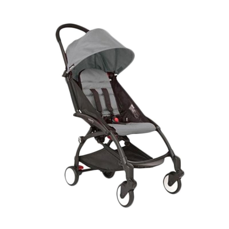 Babyzen Yoyo Baby Stroller - Black Frame Grey [Complete Set]