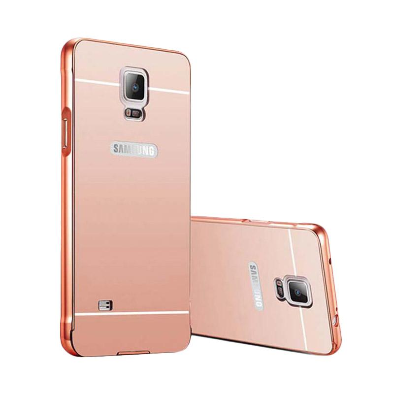 harga Elshadai Bumper Mirror Casing for Samsung Galaxy Note 4 - Rose Gold Blibli.com