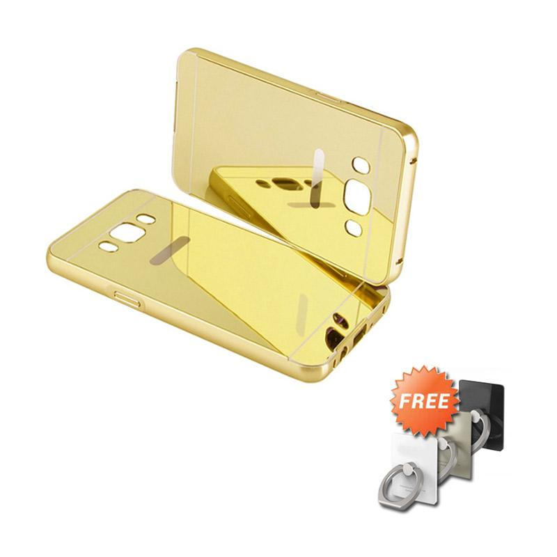 Jual Tokoaja Bumper Mirror Casing for Samsung Galaxy J5 2016 - Gold + Free Stand Ring Online - Harga & Kualitas Terjamin | Blibli.com