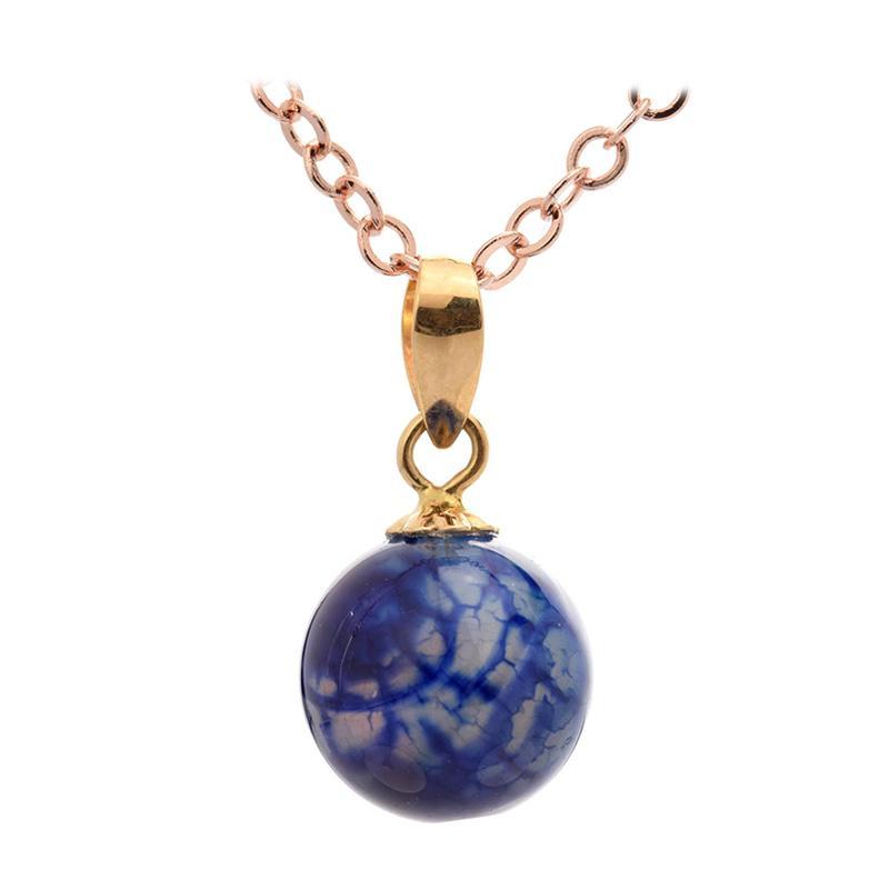 Tiaria Natural Gemstone Stone Pendant Liontin Emas Dan Batu Akik [18K]