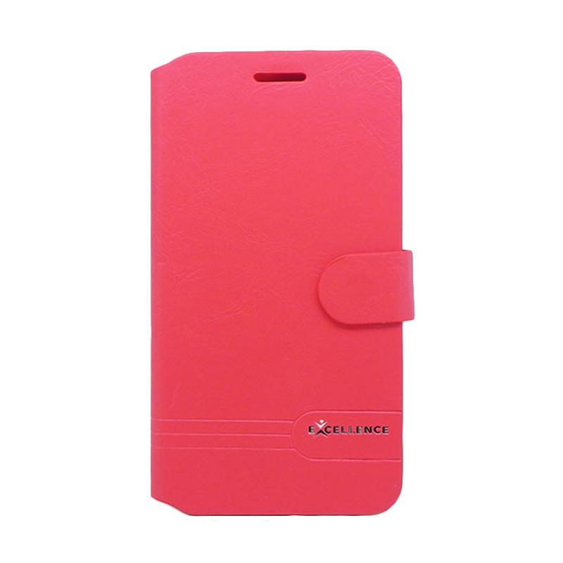Excellence Flip Case Dragonite Casing for Asus Zenfone 3 ZE552KL - Red