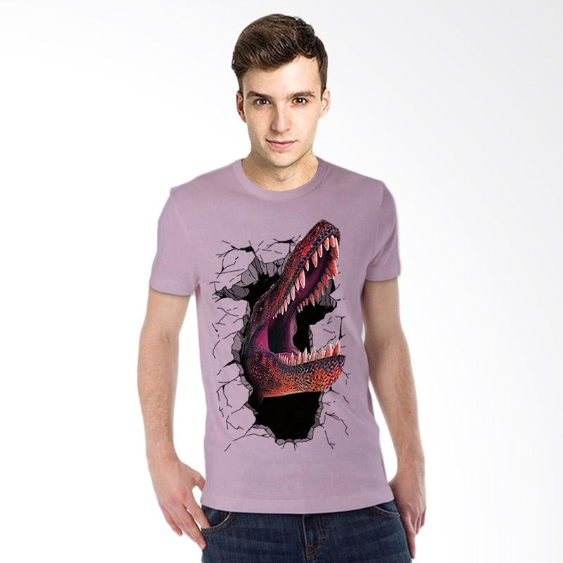 harga T-SHIRT GLORY 3D Dinosaurus Elegant Kaos Pria - Ungu Muda Blibli.com