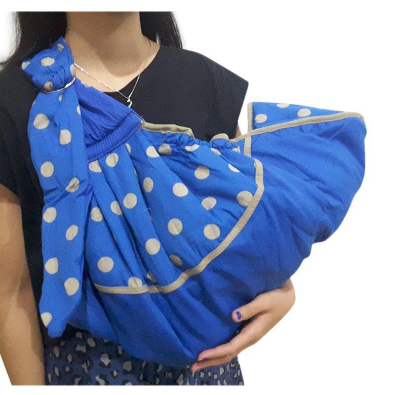 Chanel7 Gendongan Samping Bayi Polka Series Baby Family Gendongan - Biru