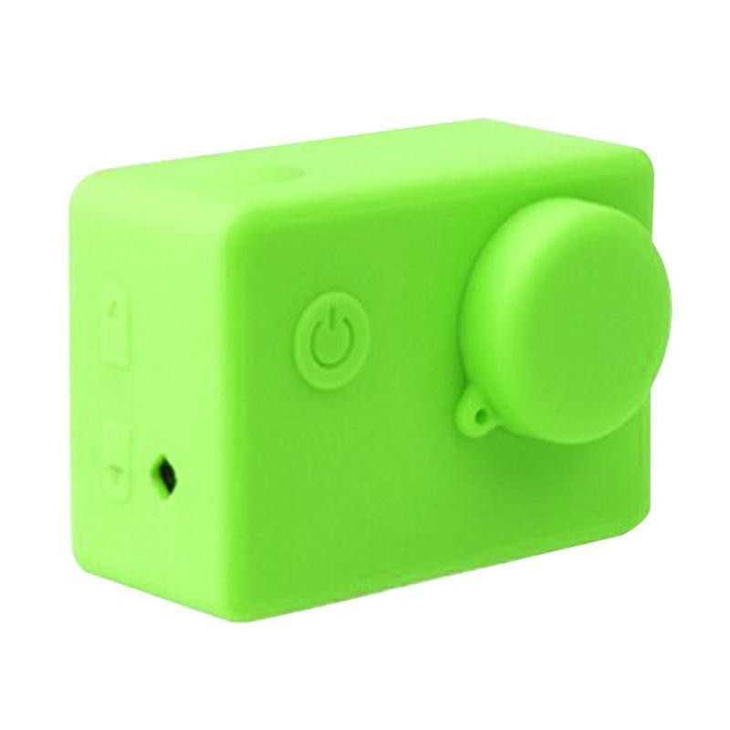 Brica Silicone Case & Lens Cap for B-PRO Alpha Edition AE2s Action Camera - Hijau